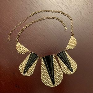 Geometric Chevron Bib Statement Necklace